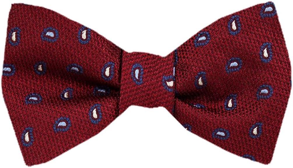 Men's Red and Burgundy Silk Self Tie Bowtie Tie Yourself Bow Ties