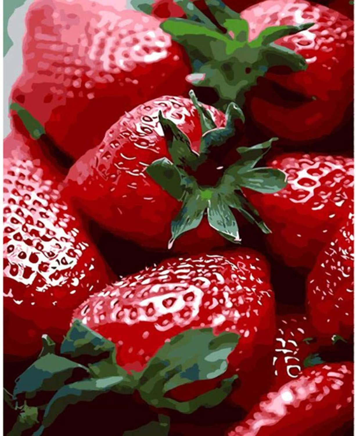 Fresh red Strawberry The Paintings Numbers Hand Paint Painitng coloring by Number Drawing Module Pictures Home Wall Decoration 50x60CM