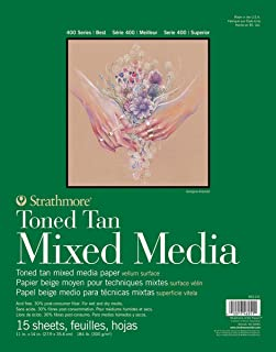 "Strathmore 400 Series Toned Tan Mixed Media Pad, 462-211, Tan, 9""x12"""