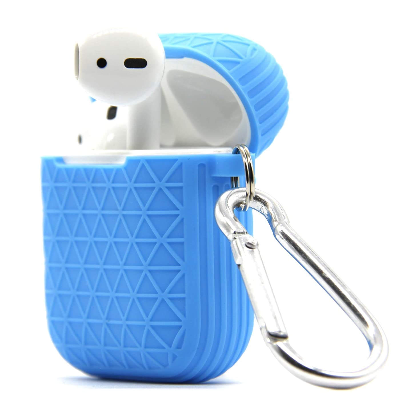 Airpods Case, Accessories Shockproof Case Cover Portable & Protective Silicone Skin Cover Case for Apple Airpods Charging Case (Sky Blue)