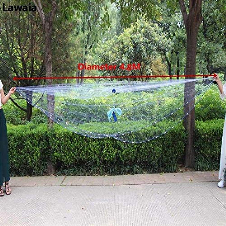 Lawaia Fishing Net Lead Pendant American Hand Casting Net Outdoor Travel Fishing Network Cast Nets Mesh 1  1cm Diameter 2.47.2m   Diameter 480cm