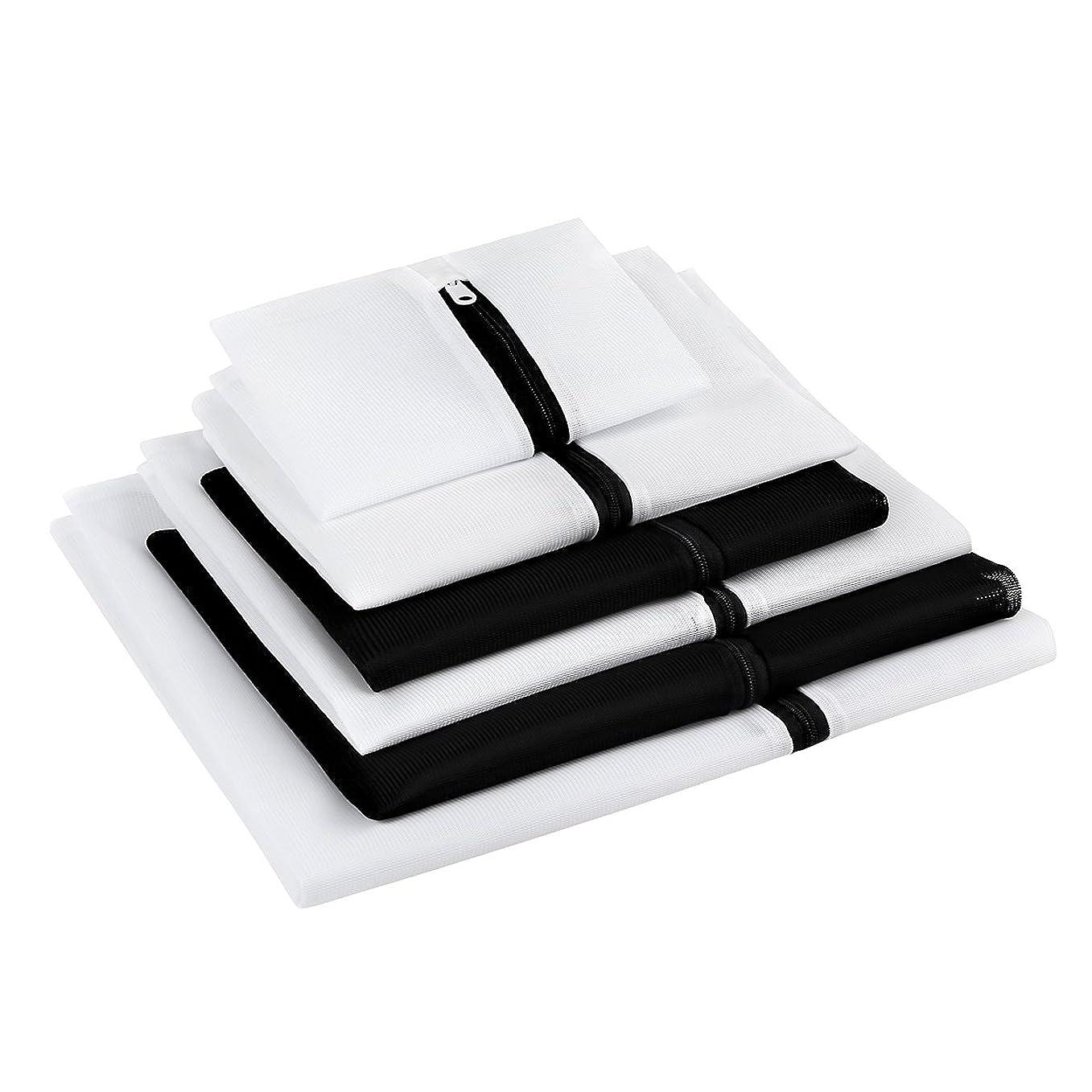 マスタードプレミアム社会科GLAMOURIC 洗濯ネット ランドリーネット 洗濯袋 6枚入 セット 細目角型 収納 終身交換承り