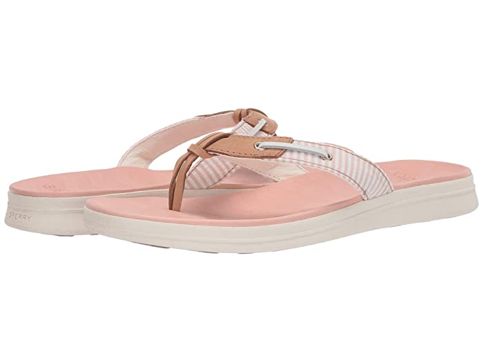 Sperry  Adriatic Thong Skip Lace Seersucker (Coral/White) Womens Shoes