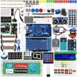Adeept Ultimate Starter Kit Compatible with Arduino Mega2560 LCD1602, Stepper motor, ADXL345, Learning Kit with PDF Guidebook