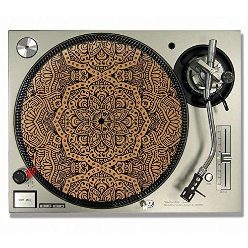Mandala Kork DJ Slipmats/Turntable Slipmats–VINYL