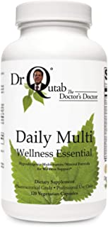 "Daily Multi Wellness Essential by Dr Qutab The Doctor's Doctor - Foundation Nutrition for a Variety of Protocols, Basic ""Insurance"" Formula for Wellness, Supports Antioxidant Protection"