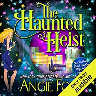 The Haunted Heist                   Written by:                                                                                                                                 Angie Fox                               Narrated by:                                                                                                                                 Tavia Gilbert                      Length: 6 hrs and 30 mins     1 rating     Overall 4.0