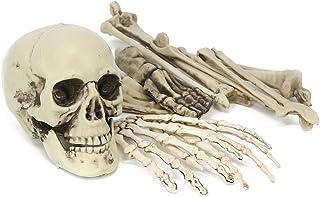 com-four® 9-delig Halloween decoratie skelet in onderdelen - Botten als decoratie voor carnaval en themafeesten (09 stuks...