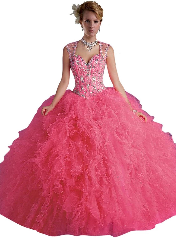 Dearta Women's Ball Gown Regular Straps Sleeveless FloorLength Quinceanera Dresses