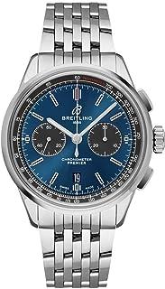 Breitling - Premier B01 Reloj cronógrafo 42 esfera azul para hombre AB0118A61C1A1