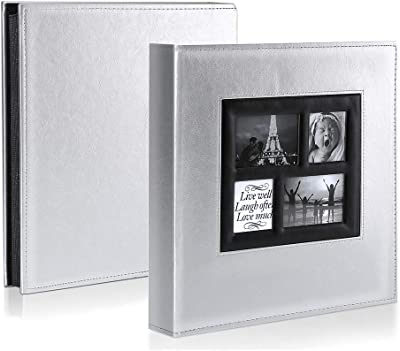 Photo Album 500 Pockets 6x4 Photos Extra Large Size Leather Cover Slip In Wedding Family Photo Albums That Holds 500 6x4 10x15cm Photos Pictures Brown Amazon Co Uk Kitchen Home