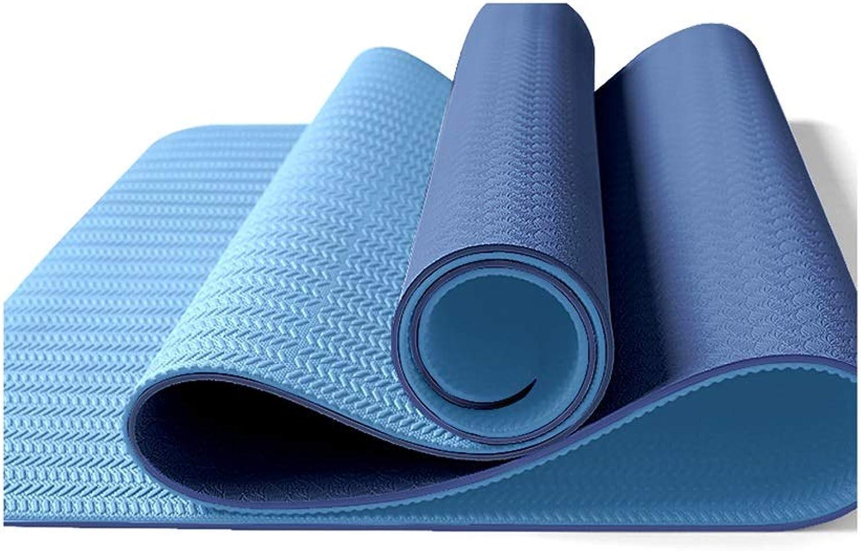YJWOZ TPE Reversible Non-Slip Rip-Proof Double-Sided Yoga Mat Pilates Mat Outdoor Sports Mat Yoga mat (color   A)