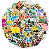 Travel Map Stickers, 150Pcs World Famous Country Regions Logo Vinyl Waterproof Sticker for Skateboard Pad Car Snowboard Bicycle Luggage Decal for Kids Girls/Teens