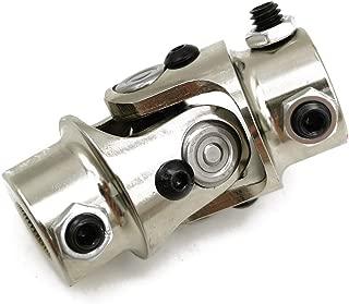 Ensun 5/8-36 Spline x 3/4 DD Nickel Plating Single Steering Shaft Universal U Joint, Maximum Working Angle: 35° Degree, Total Length: 83mm (3-1/4