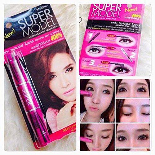 Mistine Super Model Miracle Lash Mascara Eyelashes Thicker Longer Best Seller