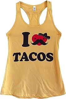 The Bold Banana Women's I Love Tacos Tank Top
