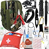 A+ Alertoa 30+'Items in 1 Survival kit/Emergency Gears + First Aid kit; Include All Essential & Tools for Camping Biking Hunting Outdoor Birthday Gift - Men Women Boys Girls Need This Cool kit