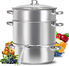 Fruit Juicer Steamer, 11-Quart Stainless Steel Fruit Vegetables Steamer For Food With..