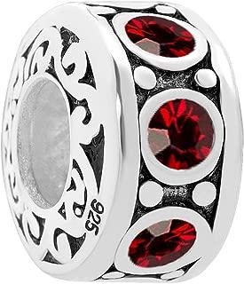 925 Sterling Silver Jan-Dec Charms Sale fit Bracelet