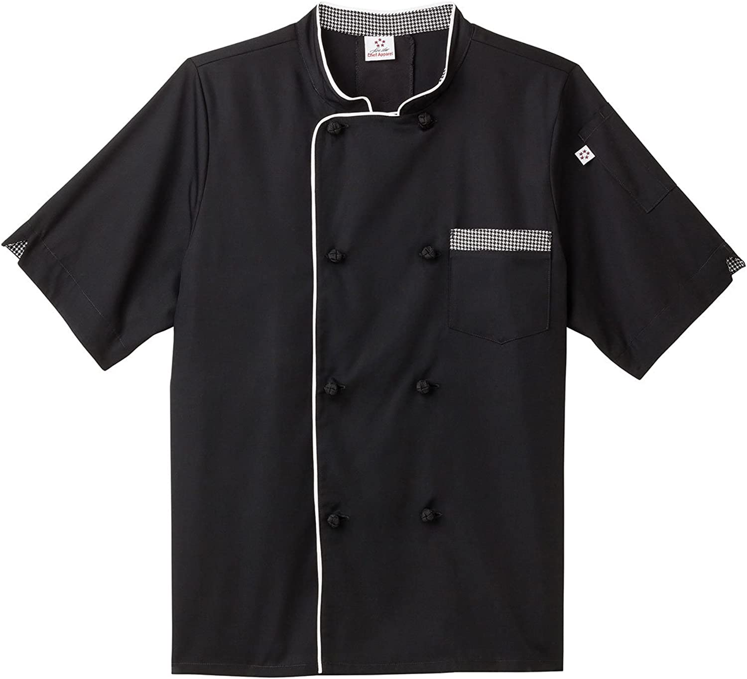 Five Star Chef Apparel Unisex Short Sleeve Executive Coat