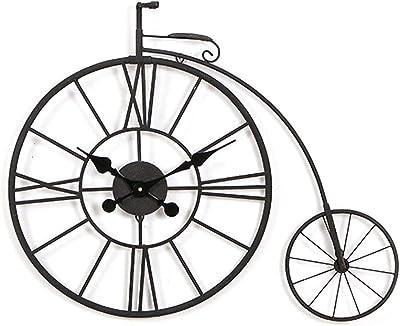 AHLPO Bicicleta Reloj de Pared decoración Hierro Forjado ...
