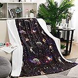 Duang Fleece Blanket Espacio Sin Derramamiento Cat Kitty Dog Home Bed Throw...