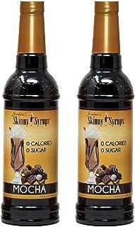 Jordan's Skinny Syrups | Sugar Free Mocha Syrup | Healthy Flavors with 0 Calories, 0 Sugar, 0 Carbs | 750ml/25.4oz Bottle- Pack of 2