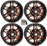 STI HD7 UTV Wheels/Rims Orange/Black 14' Polaris RZR 1000 XP/Ranger XP 900/1000
