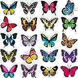 WLPTION 20 pegatinas para ventanas, diseño de mariposas, anticolisiones, para decorar y iluminar rápidamente tus ventanas.