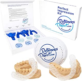 Orthodontic Retainers Kit, Custom Set of Two, 1 Upper Retainer 1 Lower Retainer, Clear Dental Guard Trays for Mouth Movement, Teeth Whitening, Protects from Mild Teeth Grinding, Mild Teeth Clenching