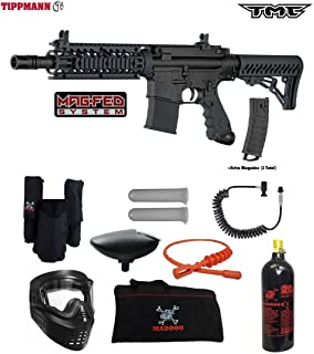Tippmann TMC MAGFED Private Paintball Gun Package - Black/Black