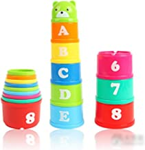 NUOLUX Stacking Cups Educational Toys for Baby Toddler Child Non-Toxic - 1 Set