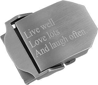 Men Custom Engraved Belt Metal Buckle Personalized Text Buckle