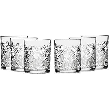 Russo Cut Cristallo Scotch Whisky Vodka Rocks Bicchieri Old Fashioned Vintage