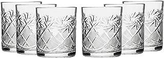 Russian Cut Crystal Scotch Whiskey Vodka Rocks Glasses Old Fashioned Vintage