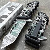 U.S. ARMY KNIVES US ARMY Assisted Knives Officially Licensed GREEN CAMO Tactical Knife