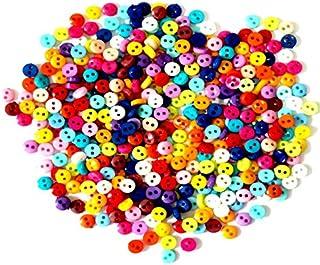 Gesh Lot de 600 petits boutons ronds en résine de 6 mm pour couture, scrapbooking, vêtements, accessoires