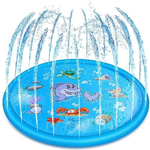 ZXYY Sprinklers Pad Water Splash Play Mat Pad Summer Outdoor Sprinkle Mat Pool Toys attività per Bambini Giocattoli Acquatici,A