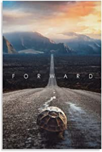 The Tortoise Crawling Forward on The Road Home Decoration Wall Picture Living Room Canvas Painting Movie Poster Cuadros Modern Bedroom Decoration Canvas Art Poster and Wall Art Picture Print Modern Fa