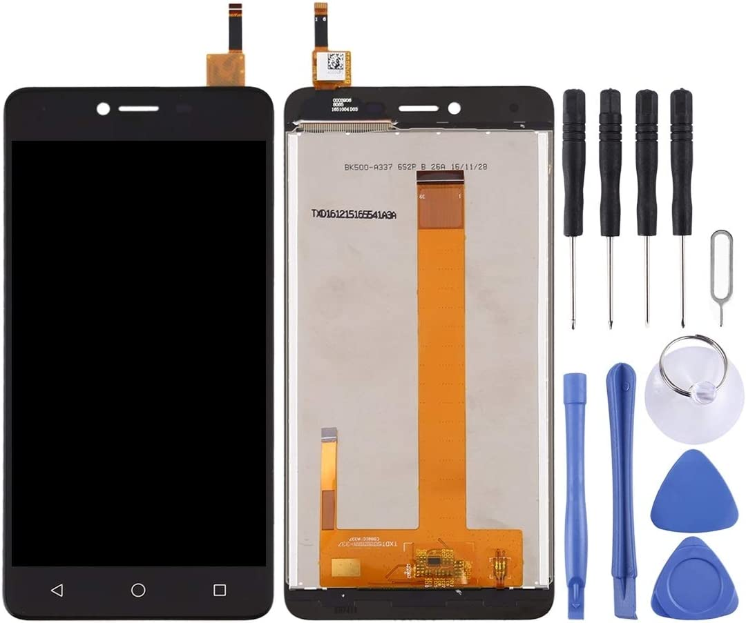 SHIFENX LCD Screen and Digitizer Full Assembly for BQ BQ-5059 Strike Power Replacement Part Black Color : Black