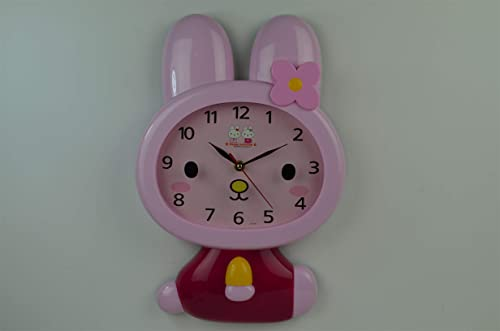 2021 SkyMall Adorable Bunny sale Shaped Wall Décor discount Clock outlet sale