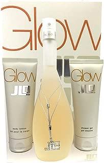 Glow by J. Lo for Women Glitter Picks Gift Set Includes: 3.4 oz Eau de Parfum Spray + 2.5 oz Perfumed Body Lotion + 2.5 oz Perfumed Shower Gel