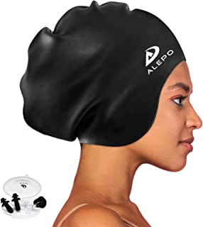 Alepo Extra Large Swim Cap for Women Men, Durable...