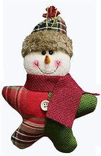 Noon-Sunshine decorative-plaques 1Pcs Santa Claus/Snowman/Deer Merry Christmas Doll Tree Pendant Ornament Home Christmas Party Xmas Tree,B