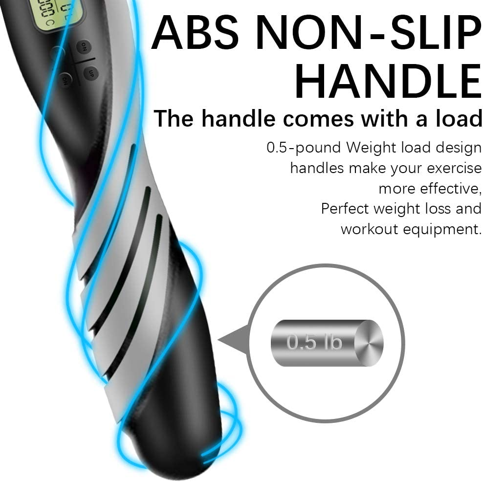 BINSENI Springseil mit Digital Z/ähler 3.4M Adjustable Length Skipping Rope Eingebaute Kugellager /& Anti-Rutsch Griffe is Suitable for Children or Adult Men and Women Fitness and Sports