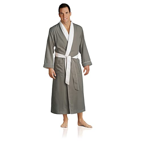 3c6163a8ff Plush Necessities Luxury Spa Robe - Microfiber with Cotton Terry Lining  Beige