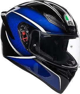 AGV Unisex-Adult Full Face K-1 Qualify Motorcycle Helmet (Black/Blue, Medium/Small)