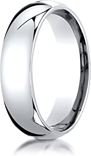 Men's Platinum 6mm Slim Profile Comfort Fit Wedding Band Ring