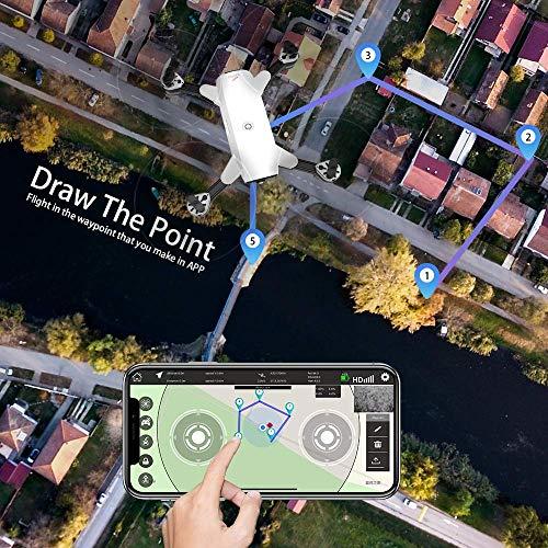 le-idea IDEA10 Drone GPS, WiFi FPV Quadcopter con Cámara 1080P HD con Modo sígueme, 120º Gran Angular, RTF Altitude Hold, Modo Sin Cabeza y Retorno a Casa