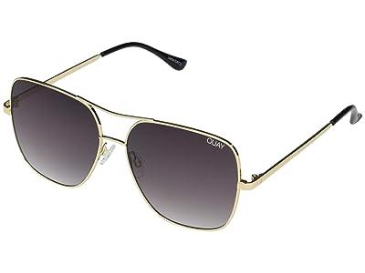 QUAY AUSTRALIA Stop and Stare (Gold/Smoke) Fashion Sunglasses